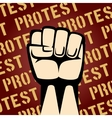 Fist Up Protest Poster vector image vector image