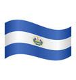 flag of el salvador waving on white background vector image vector image