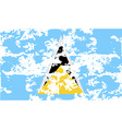 Flag of Saint Lucia with old texture vector image