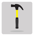 flat icon hammer vector image