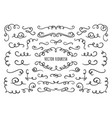 flourish frame corners and dividers decorative vector image vector image