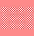 gingham red checkered seamless pattern plaid vector image vector image