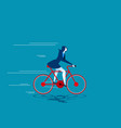 growth business woman ride bicycle vector image vector image