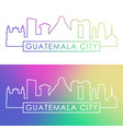 guatemala city skyline colorful linear style vector image vector image