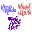 hand made set lettering phrase for postcard vector image vector image