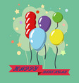 Happy birthday design greeting cards with