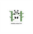 health panda logo vector image vector image