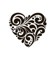 heart with beautiful patterns vector image vector image
