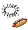 hotdog-100 vector image vector image