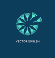 logo design template in linear style - dandelion vector image