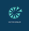 logo design template in linear style - dandelion vector image vector image
