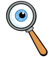 Magnifying Glass With Eye Ball vector image vector image