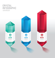 Modern infographics design crystal options banner vector image