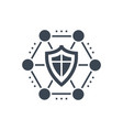 network protection glyph icon vector image