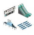 Objects for modeling media airport train station vector image vector image