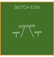 of camping symbol on table vector image