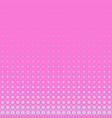 pink halftone circle pattern background vector image vector image