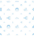 pyramid icons pattern seamless white background vector image vector image
