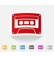 realistic design element audiocassette vector image