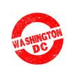 rubber ink stamp washington dc vector image