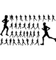 runners silhouettes collection vector image vector image