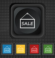 SALE tag icon sign symbol Squared colourful vector image