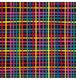 Seamless colorful checkered pattern vector image