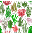 Seaweed seamless pattern Sea weed fur background vector image