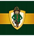 Service park ranger man cartoon shield symbol vector image vector image