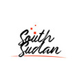 south sudan country typography word text for logo vector image vector image