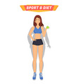 sport and diet healthy woman vector image vector image