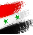 syrian flag grunge background vector image vector image