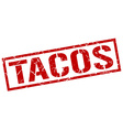 tacos stamp vector image vector image