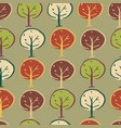 trees woodland seamless repeat pattern design vector image vector image