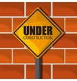 Under construction design tool icon Colorful vector image