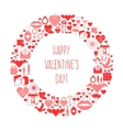 Valentines Day mosaic icons frame card vector image vector image