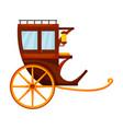 vintage carriage iconcartoon icon vector image vector image