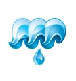waves drop vector image vector image