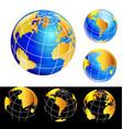 world earth globe set icon vector image vector image