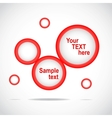 Abstract web site red design template vector image