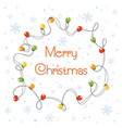 cartoon of glowing christmas vector image