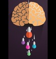 Creative brain Idea concept background design vector image