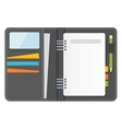 grey notebook organizer vector image