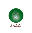 Vitamin artichoke doodle pattern for kitchen vector image