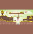 2d tileset platform game 35 vector image vector image