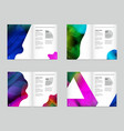 abstract colorful liquid and fluid cover design vector image