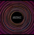 abstract colorful random circular lines background vector image
