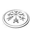 abstract runic symbols circle in perspective vector image vector image