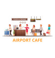 airport cafe vector image