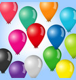balloon colorful set vector image